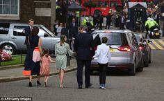 The family then climbed into two cars and left Britain's most famous address - that Sam Cam admitted to being 'terrified' of before they moved in - for the last time Samantha Cameron, David Cameron, Roksanda, West London, Affair, Boutique, Cars, How To Wear, Autos