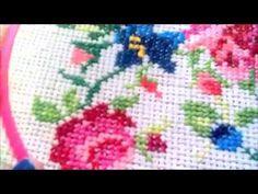 How to make Satin Ribbon Flower- Bullion Lazy Stitch Embroidery - YouTube