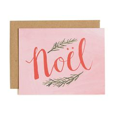 Noel Illustrated Card Boxed Set of 8//1canoe2 by 1canoe2 on Etsy