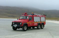 Fire engine at Barra Airport
