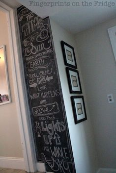 fill up an entire chalkboard wall section (love the varied sizes and fonts used!)