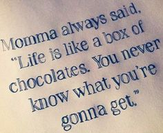 an analysis of the quote life is like a box of chocolates This study guide consists of approximately 26 pages of chapter summaries, quotes, character analysis, themes, and more - everything you need to sharpen your knowledge of forrest gump the most famous quote in this film is when forrest quotes his mother as saying, life is like a box of chocolates.