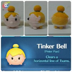 Tsum Tsum Tinker Bell Pattern by uDezignCrafts on Etsy