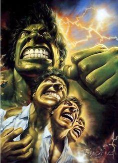 #Hulk #Fan #Art. (HULK Transformation) By: Bob Larkin. (THE * 5 * STÅR * ÅWARD * OF: * AW YEAH, IT'S MAJOR ÅWESOMENESS!!!™)[THANK Ü 4 PINNING!!!<·><]<©>ÅÅÅ+(OB4E)
