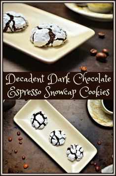 These Decadent Dark Chocolate Espresso Snowcap Cookies will not disappoint. This is definitely a coffee lovers' cookie.