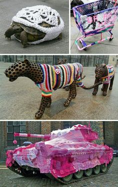 "sanpiano: "" Yarn Bombs… """