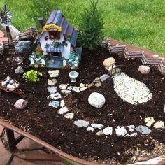 My wheelbarrow  fairy garden