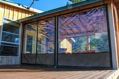 vinyl window coverings for screened in porch   Weather proof your Patio or Porch   Clear Vinyl Plastic Enclosures