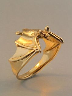 6 Creepy-Crawly Jewelry Designs: Art Nouveau Inspired Bat Ring