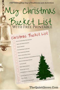 Christmas Bucket List with Free Printable