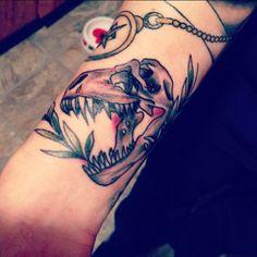 dinosaur tattoo | Tumblr