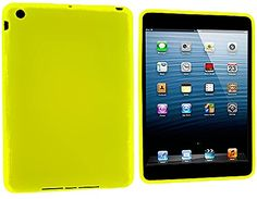 """Bright Sunshine Yellow {Simple Modern Plain} Soft and Smooth Silicone Cute 3D Fitted Bumper Back Cover Gel Case for iPad Mini 1, 2 and 3 by Apple """"Durable and Slim Flexible Fashion Cover with Amazing and Creative Cartoon Design - All Ports Accessible"""" mySimple Products http://www.amazon.com/dp/B00WL2X7V4/ref=cm_sw_r_pi_dp_KmlCwb0QFAXBQ"""