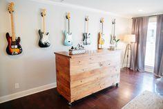 Fixer Upper Season 3 | Chip and Joanna Gaines Renovation | The Green Mile House | House Renovation | Waco, TX | Coastal Style | Guitar Room