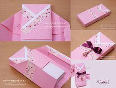 Another DIY Hanbok Party Favor Box Gift Wrap -