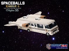 Spaceballs Eagle 5 Paper Model by Dave Winfield - Dave's Card Creations © www.cutandfold.info