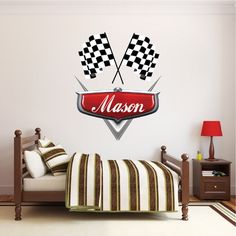 DISNEY CARS D Wall Sticker Smashed Bedroom Kids Decor Vinyl - Disney cars wall decals kids rooms