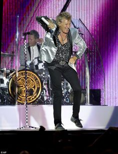 Some Guys Have All The Moves: Rod Stewart, 72, performed some VERY energetic dance steps i...