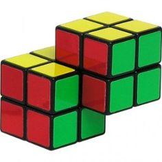 Double 2x2 Cube Brain Teaser Puzzle Like Rubiks Cube