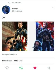 The Russos and Marvel design team are the gods I worship.