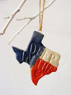 Deep in the Heart of Texas Christmas Ornament $7.00 Made by Whimsy Whistles