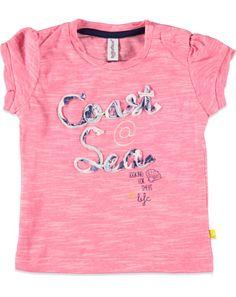 Babyface T-shirt slub roze - Babyface Meisjes T-shirt slub €17,95
