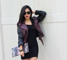 Blogger BFF Naty Michele looks completely stunning with these Charlotte Russe sunglasses. See more on her blog - A Love Affair With Fashion : Black & Burgundy