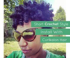 Short Crochet Style Install with Curlkalon Hair Crochet Curlkalon  Protective Style  Marley