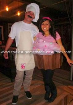 Homemade Cupcake and Baker Costume http://www.coolest-homemade-costumes.com/make-your-own-cupcake-costume-65.html