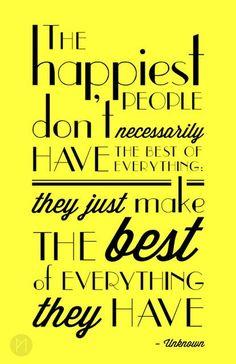 happiest people...