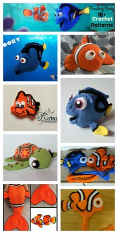 We have rounded up a few Finding Dory Crochet Patterns for your inspiration. Crochet Fish, Crochet Baby Toys, Crochet Gifts, Crochet Dolls, Easy Crochet Patterns, Crochet Patterns Amigurumi, Knitting Patterns, Crochet Ninja Turtle, Crochet Sea Creatures