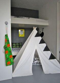 Modern teepee black and white
