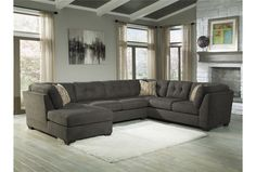 Delta City Steel 3 Piece Sectional W/Laf Chaise
