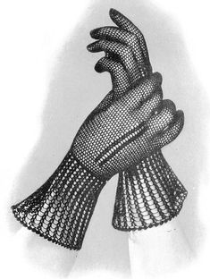 INSTANT PDF PATTERN 1930s Vintage Crocheted Fine Lace Gloves Pattern Vintage Crochet Pattern Lovely For Evening Wear on Etsy, $3.00