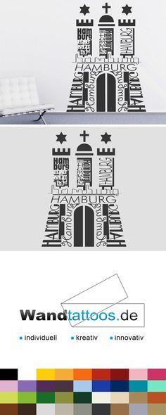 Wandtattoo Hamburg   Wappen Hamburg