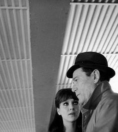 Anna Karina & Eddie Constantinein Alphaville (1965, dir. Jean-Luc Godard)
