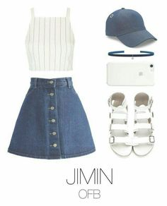 36 Ideas Fitness Outfits Shorts Jeans When you go to the gym, it's important to wear clothes that are breathable Teenager Outfits, Outfits For Teens, Girl Outfits, Kpop Fashion Outfits, Korean Outfits, Look Fashion, Korean Fashion, Unique Fashion, Bts Clothing