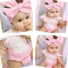 2PCS Newborn Baby Girl Lace Photography Prop Backdrop Wrap Cloth+Headband Outfit