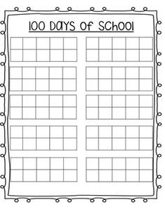 photograph relating to 100 Day Countdown Printable named absolutely free printable blank 10 frames sheet for 100 working day - Google