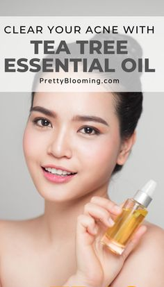 Are you interested in natural ways to get rid of acne? Then surely tea tree oil is something you must try. Just take some time to educate yourself, why tea tree oil is your acne's worst enemy. Click the ima Essential Oils For Skin, Tea Tree Essential Oil, Diy Skin Care, Skin Care Tips, Tea Tree Oil For Acne, Natural Hair Mask, How To Get Rid Of Acne, Acne Treatment, Face And Body