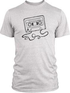 Big Texas Hand Drawn Cassette (Grey) Vintage Tri-Blend T-Shirt
