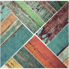 Distressed Vintage Faux Wood Panel wall decals