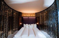 Top of Suite im Kuschelhotel Gams Das Hotel, Curtains, Bed, Furniture, Home Decor, Blinds, Stream Bed, Interior Design, Draping