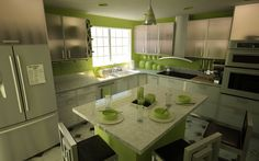 lime green decorating