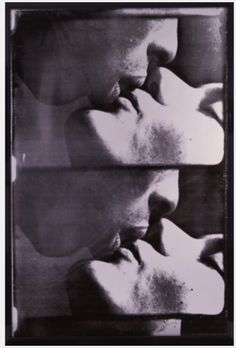 Large Kiss, 1965 screen print on plexiglas™ in stainless steel and plexiglas™ frame, 63 x 42 x 9 inches. The Andy Warhol Museum, Pittsburgh, PA. Andy Warhol Museum, Andy Warhol Art, Selling Art Online, Online Art, Vintage Art, Photo Art, Screen Printing, Kiss, Prints