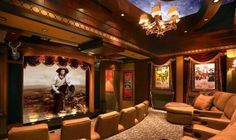elegant theater room