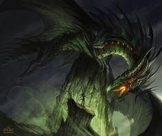 MYRE - The Great Black Dragon by AlectorFencer.deviantart.com on @deviantART