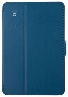 Speck - StyleFolio Case for Apple® iPad® mini, iPad mini 2 and iPad mini 3 - Deep Sea Blue/Nickel Gray