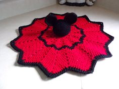 """Mickey and Minnie Mouse Lovies (Security Blankets) by Cin's Knits n Things.  These hand crocheted lovies (security Blankets) are the perfect size for your little one to carry around. They are cute and cuddly and are sure to bring comfort and fun.  Use code """"Pinterest10"""" for a 10% discount. #cinsknitsnthings"""