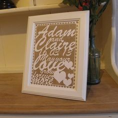 personalised laser cut wedding keepsake by pollyandme | notonthehighstreet.com