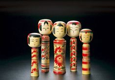 #Kokeshi are wooden dolls of a simple ball and cylinder construction (representing the head and body — no limbs), originating from the Tohoku north-eastern region of Japan. Kokeshi were first made by craftsmen to sell as souvenirs at onsen hot springs resorts, for which this part of Japan is famous, in the late 19th century...Click to read more. #Japan #doll